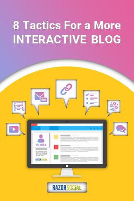 Interactive blog